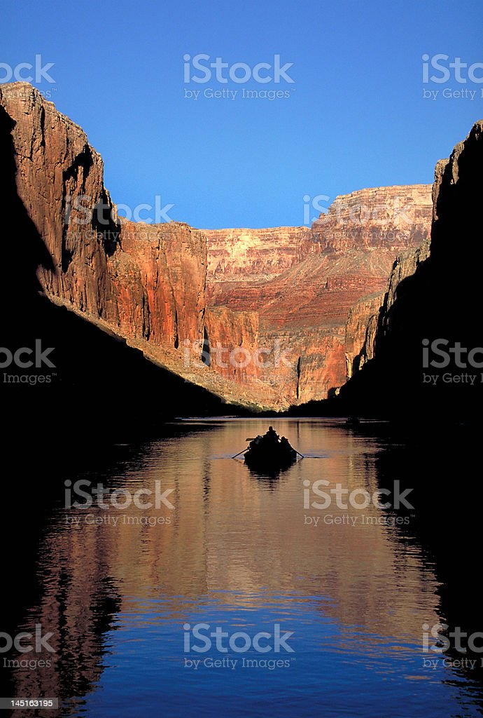 Rafting on the Colorado River stock photo