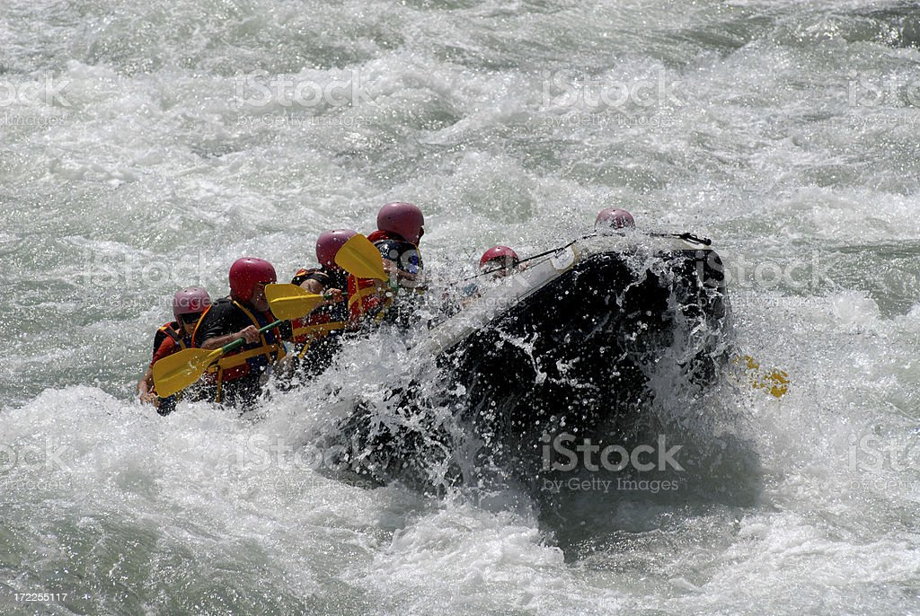 Rafting on the Coruh River royalty-free stock photo
