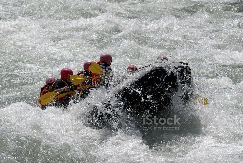 Rafting on the Coruh River stock photo