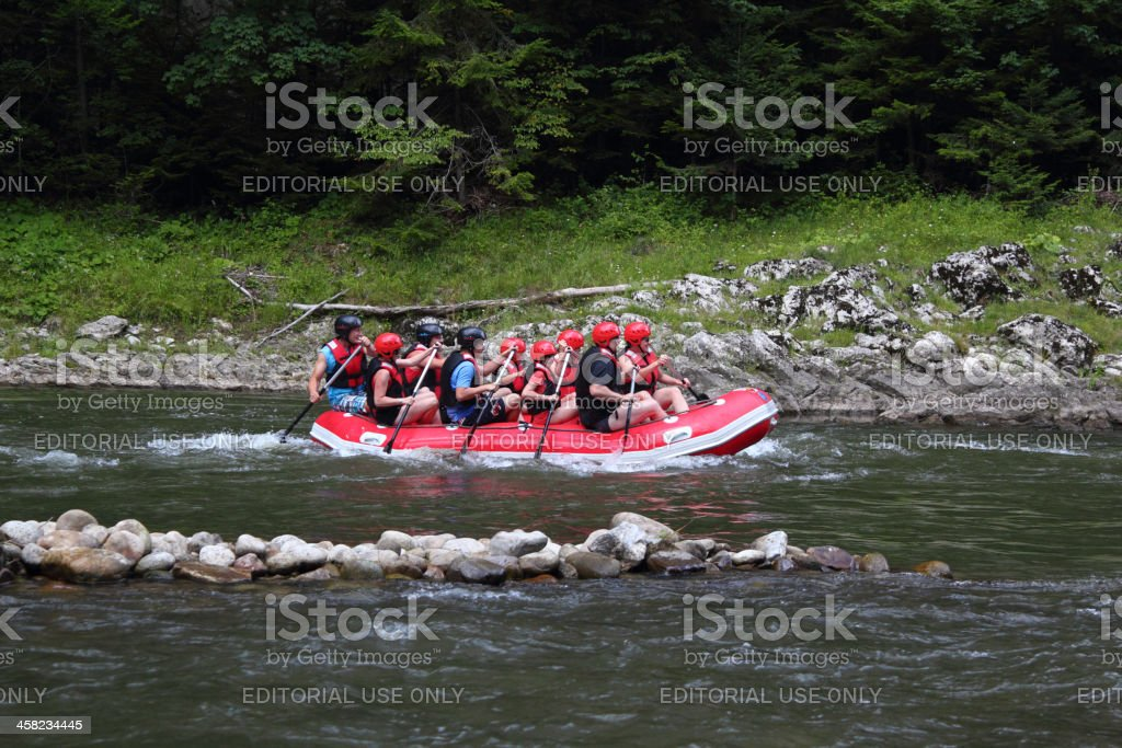 Rafting on The Dunajec River royalty-free stock photo