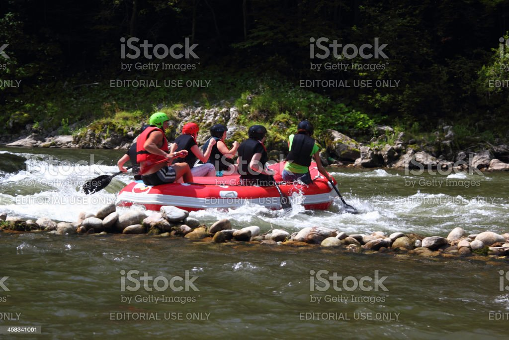 Rafting on The Dunajec River stock photo