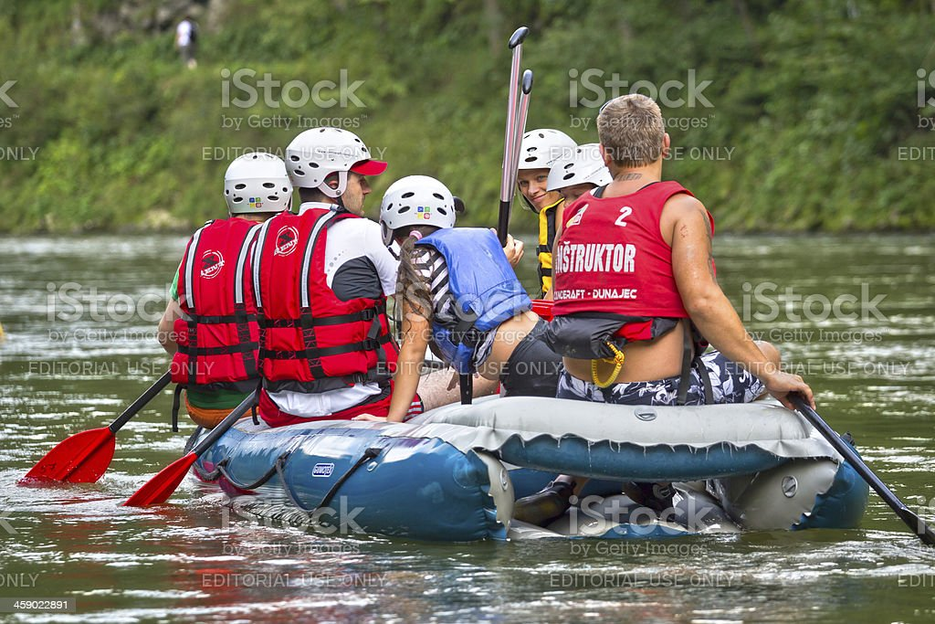 Rafting on The Dunajec River, Poland royalty-free stock photo