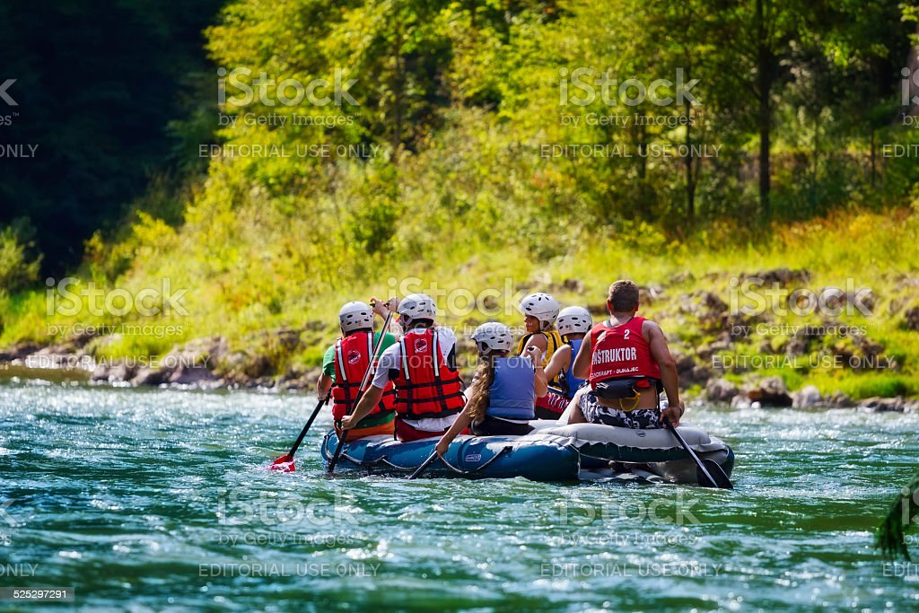 Rafting on The Dunajec River, Poland stock photo