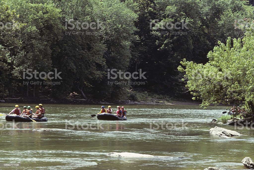 Rafting On The Shenandoah River stock photo