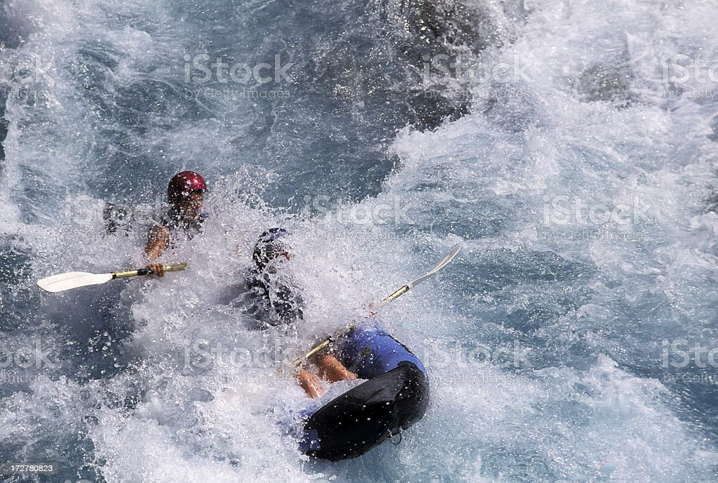 Rafting on White Water royalty-free stock photo
