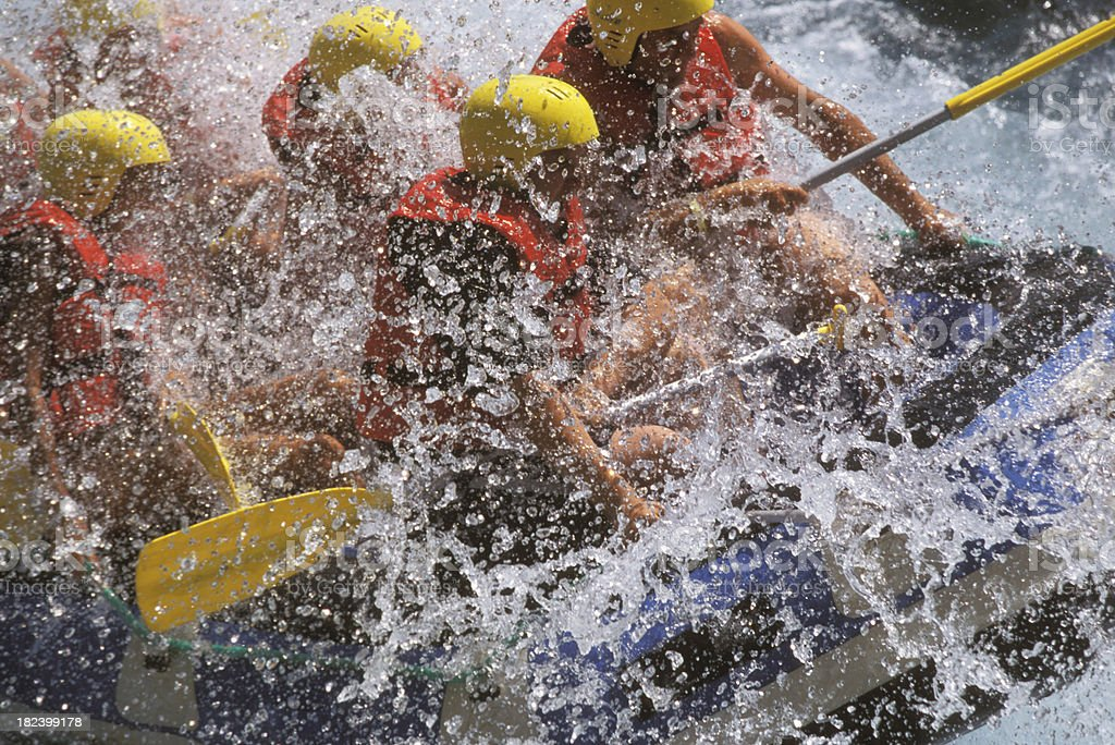 Rafting on White Water stock photo