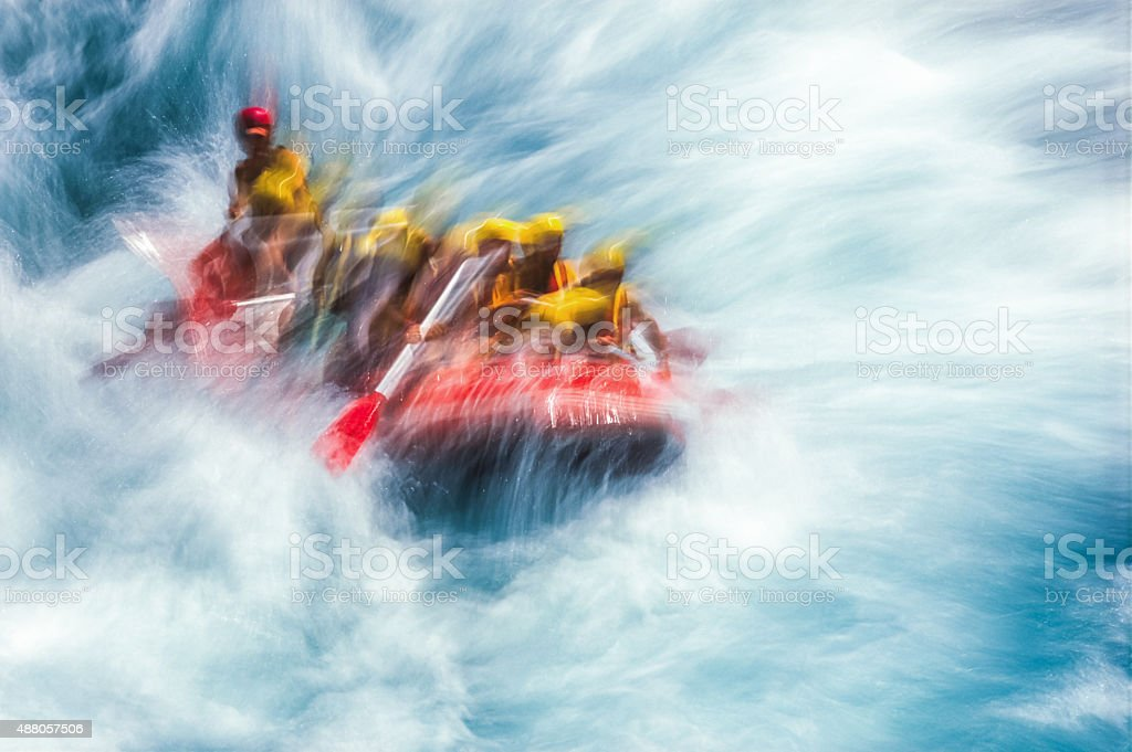 Rafting On Whitewater stock photo