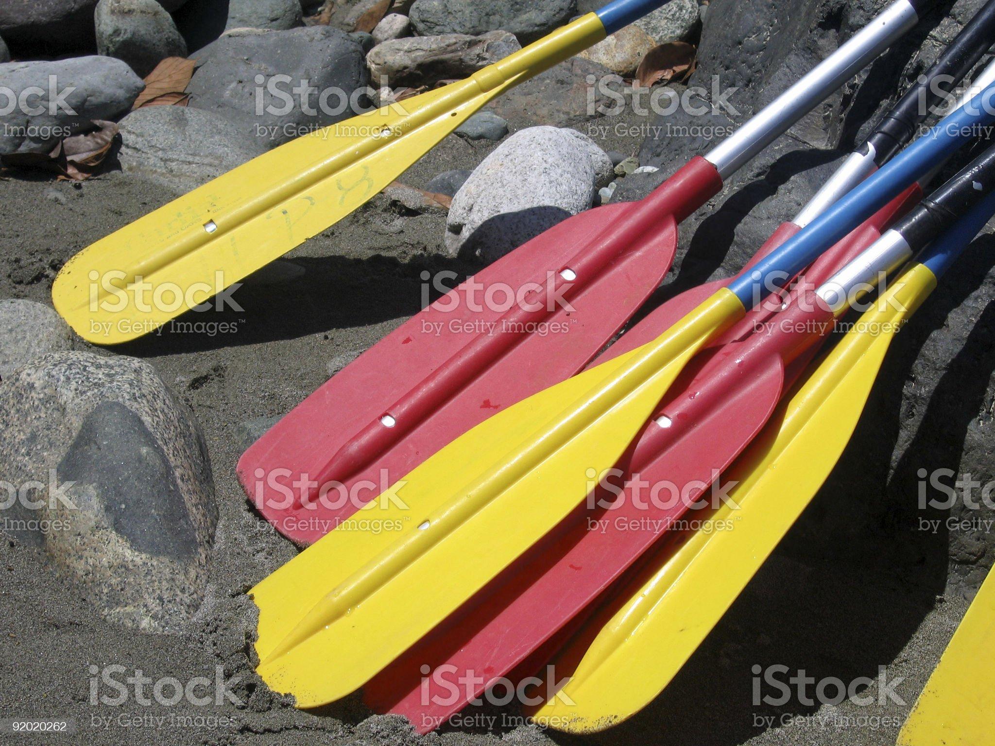 Rafting Paddles royalty-free stock photo