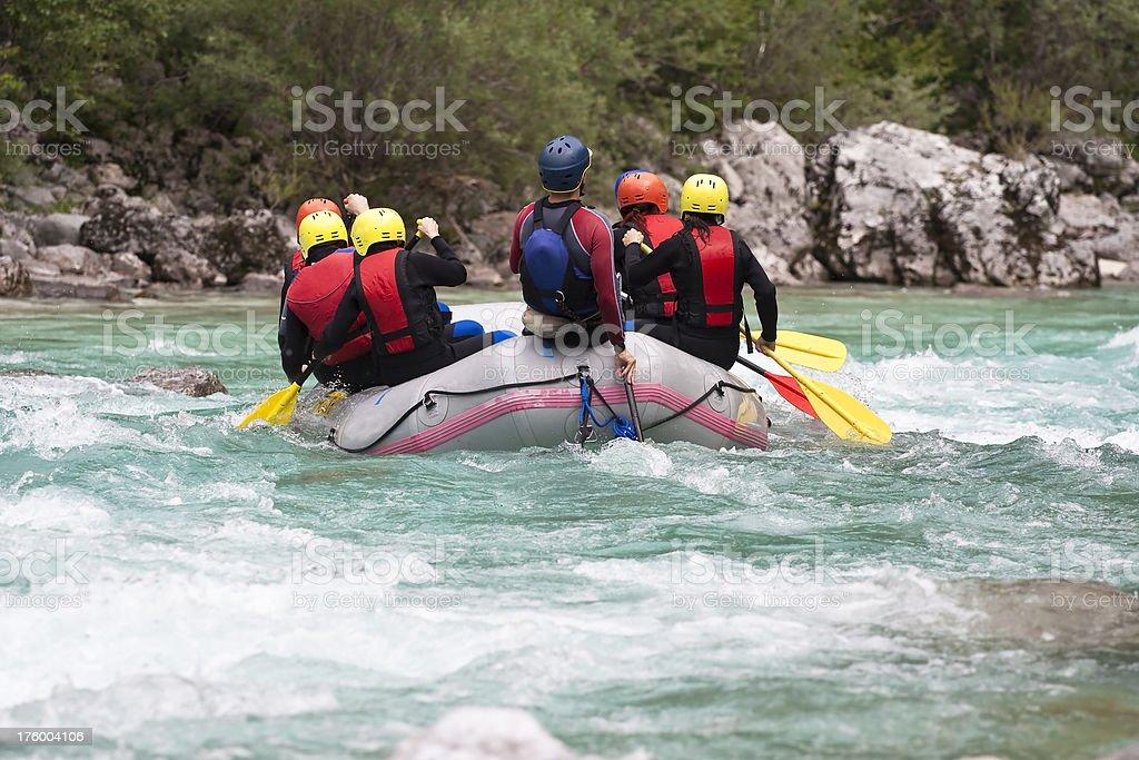 Rafting royalty-free stock photo