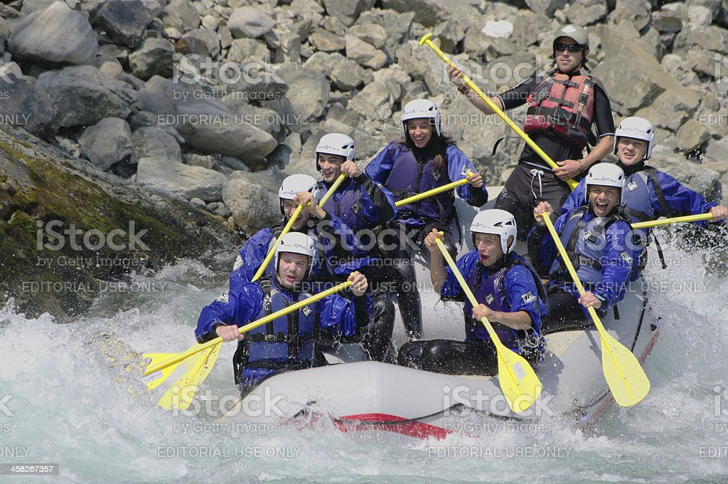 Rafting royalty-free stock photo