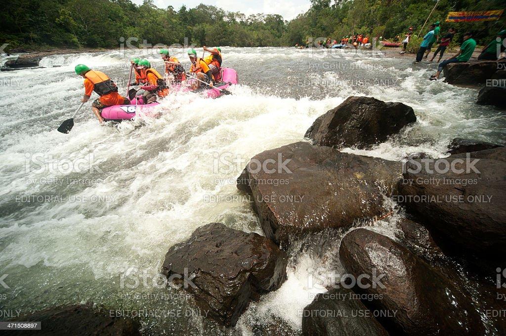 Rafting racing. royalty-free stock photo