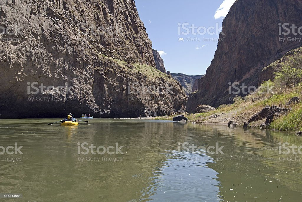 Rafting the Lower Owyhee River royalty-free stock photo
