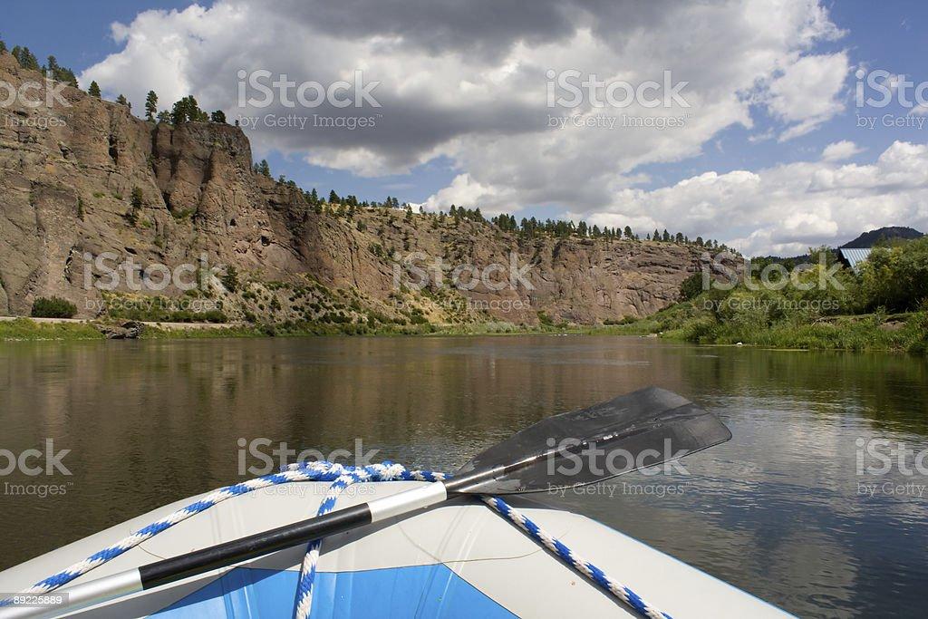 Rafting the Missouri royalty-free stock photo