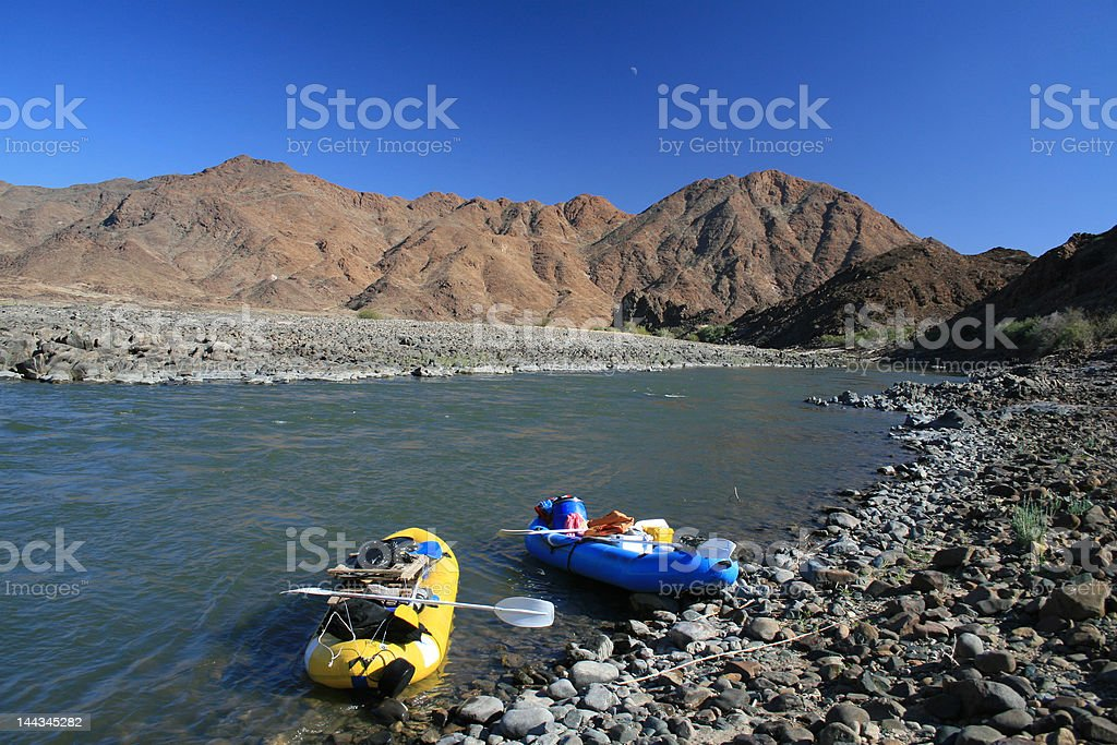 Rafting the Orange River royalty-free stock photo