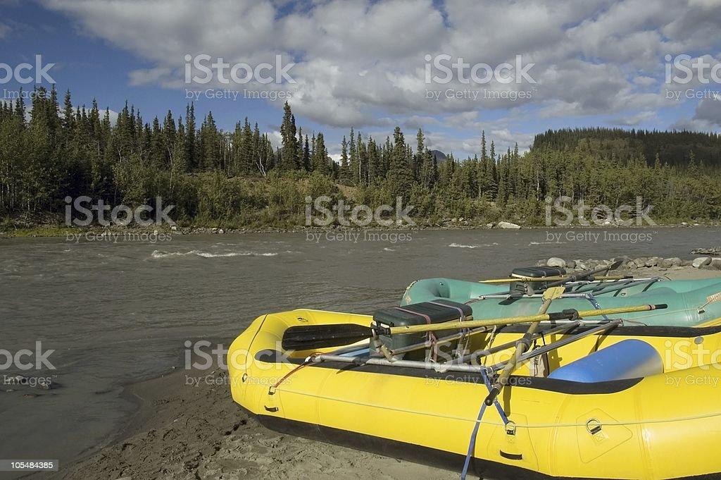 Rafts in Denali royalty-free stock photo