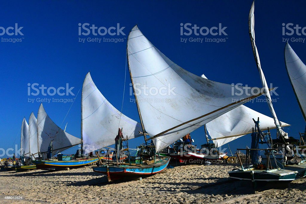 Rafts of Ceara stock photo