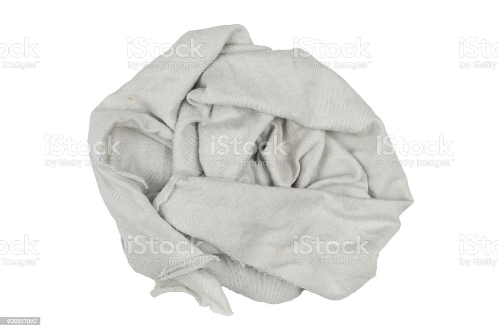 rag on white background stock photo
