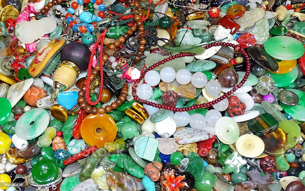 Ragbag of jewelry stock photo
