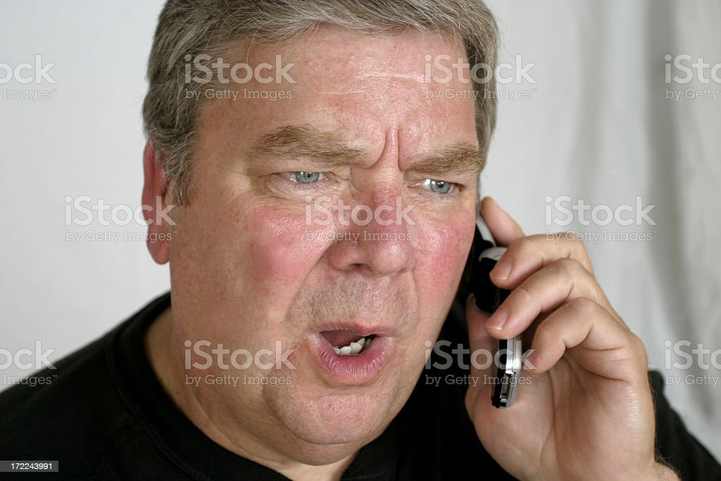 Rage on the Cell Phone stock photo