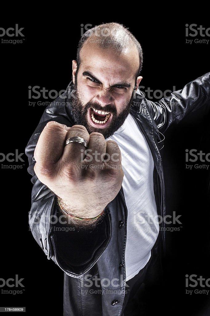 Rage stock photo