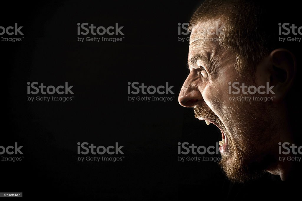 Rage royalty-free stock photo