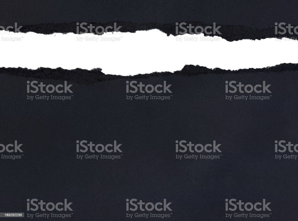Ragged BlackPaper royalty-free stock photo