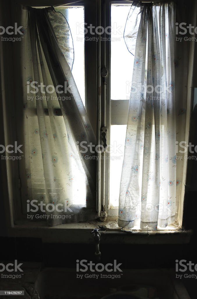 ragged curtains royalty-free stock photo