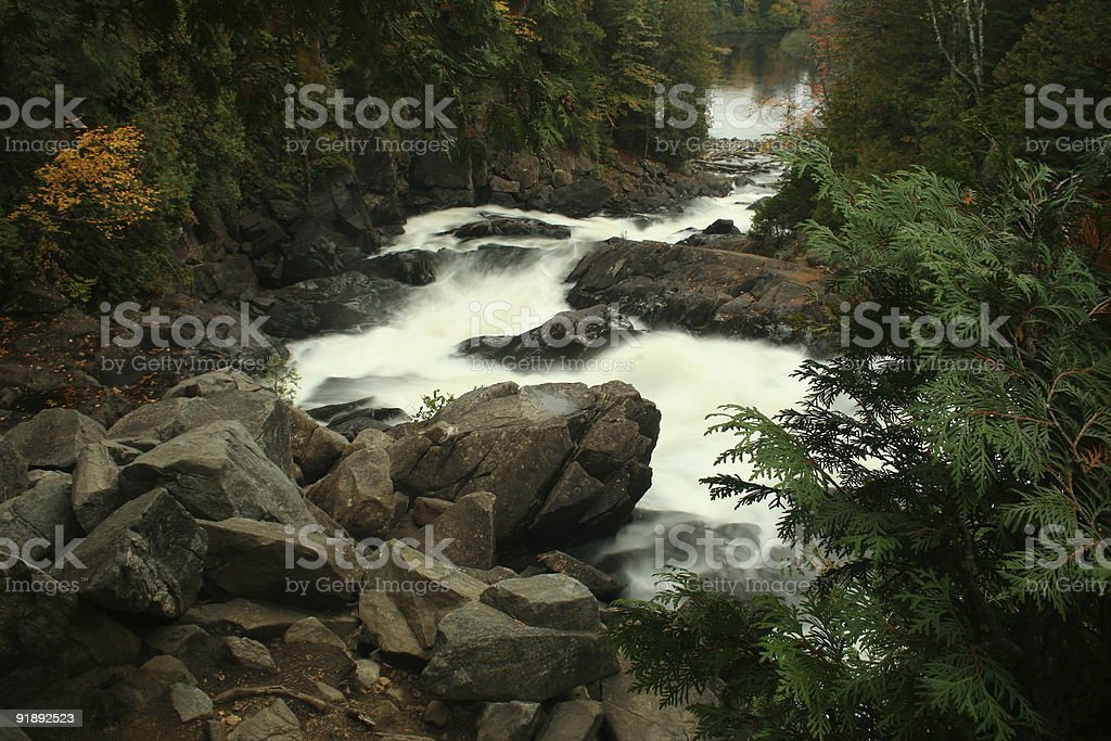 Ragged Falls stock photo
