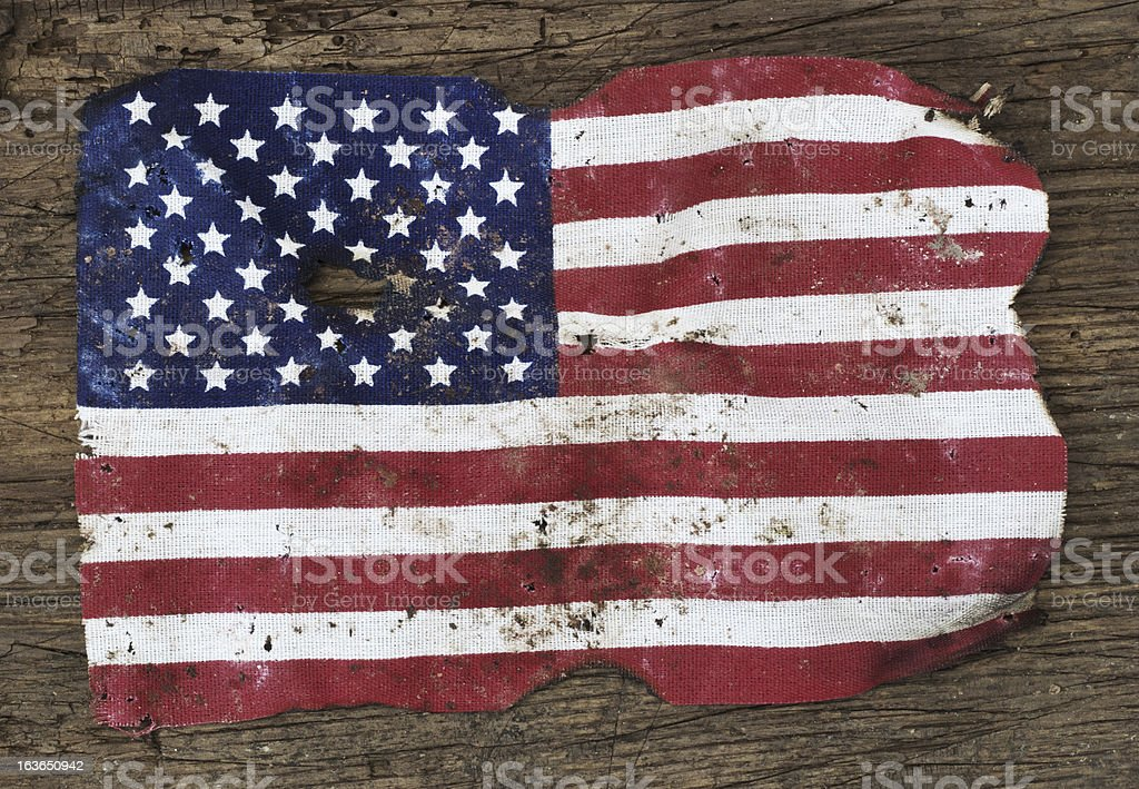 Ragged flag the United States of America royalty-free stock photo