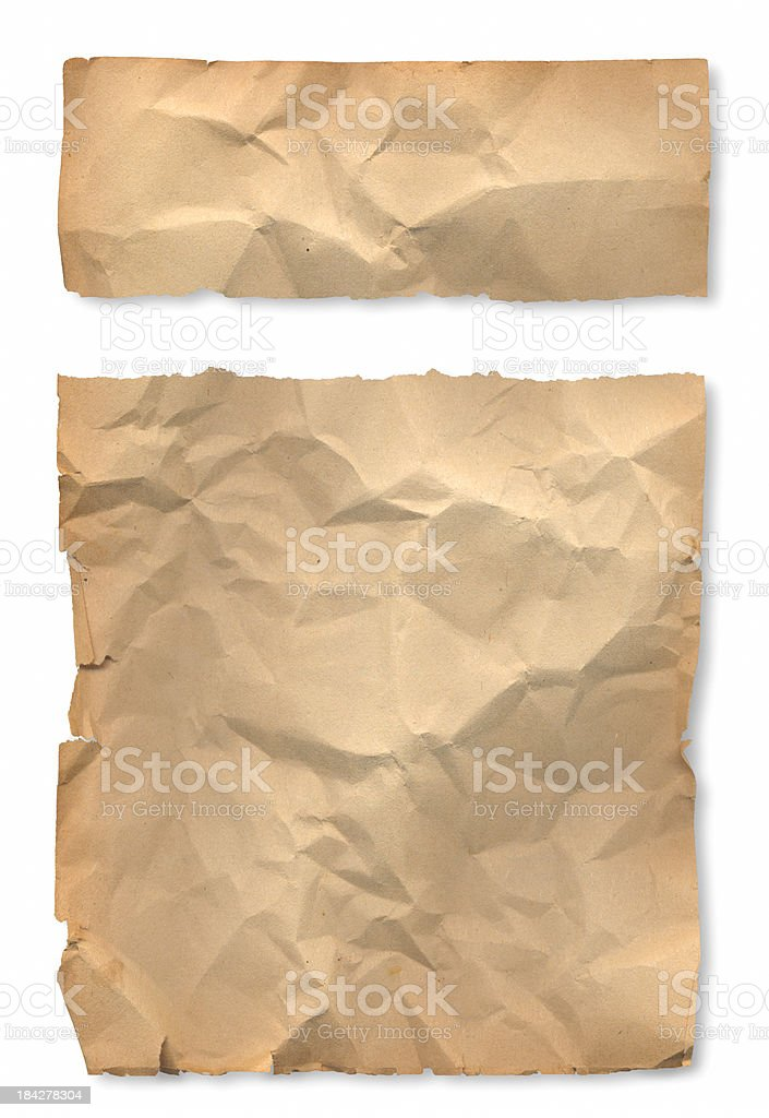 Ragged Old Paper royalty-free stock photo