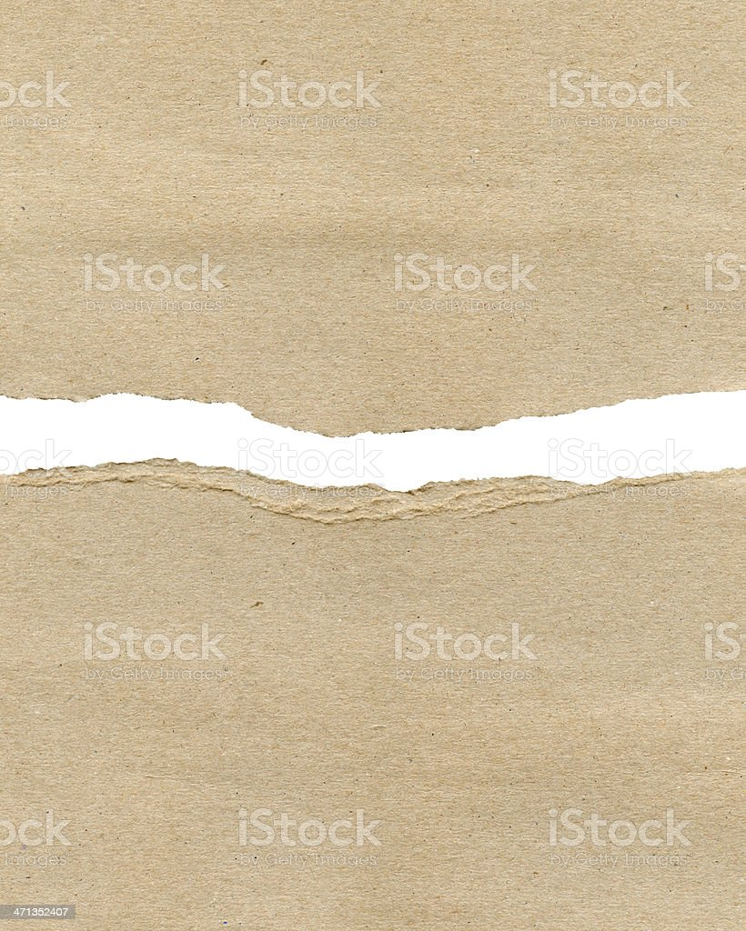 Ragged Paper stock photo