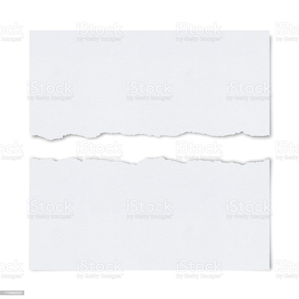 Ragged White Paper stock photo