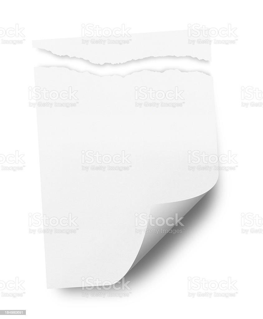 Ragged White Paper royalty-free stock photo