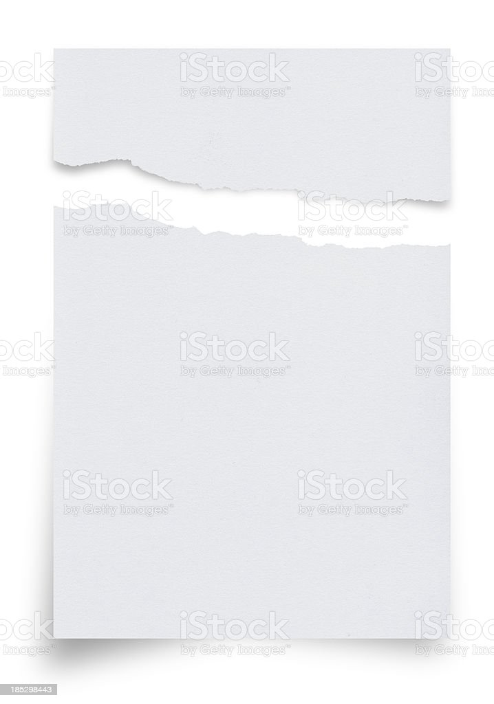 Ragged White Paper royalty-free stock photo