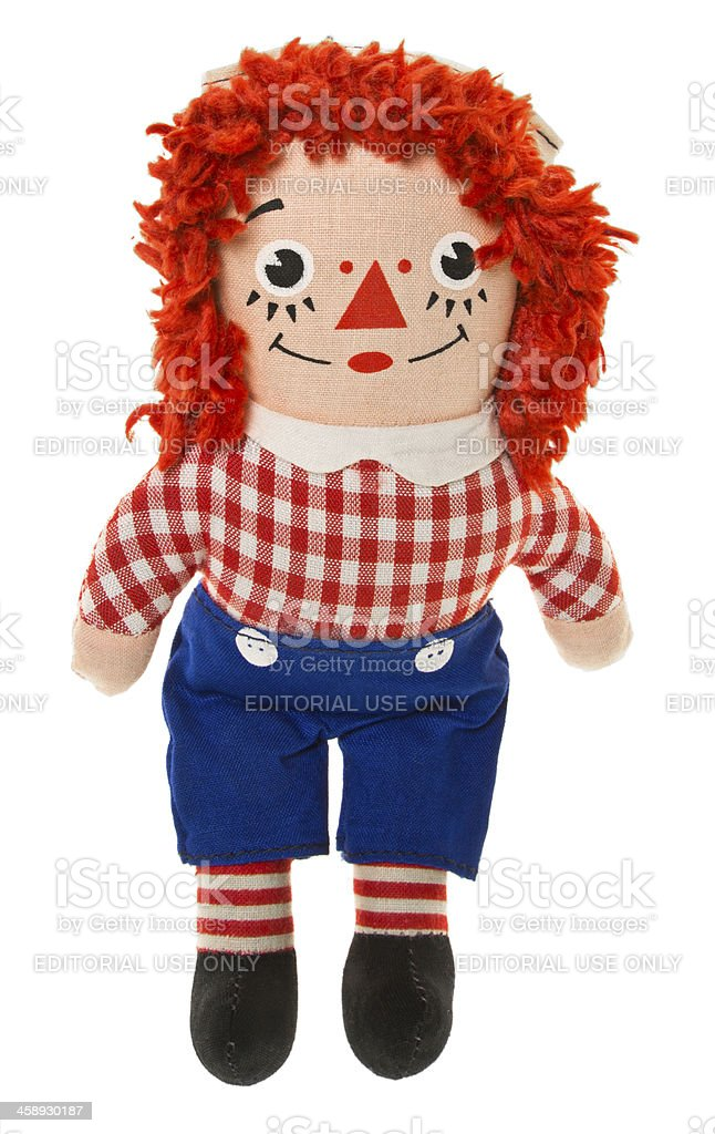 Raggedy Andy Doll stock photo