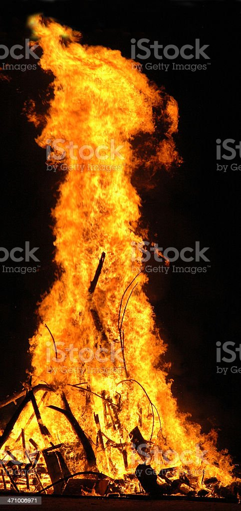raging fire stock photo