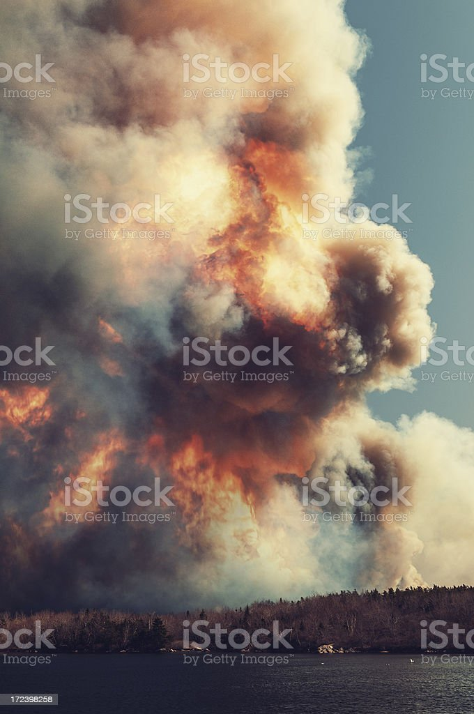 Raging Forest Fire royalty-free stock photo