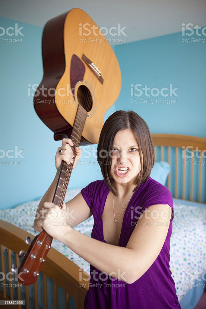 Raging girl royalty-free stock photo