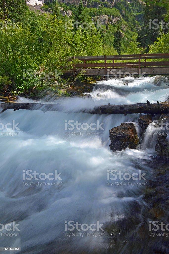 Raging Mountain Stream stock photo