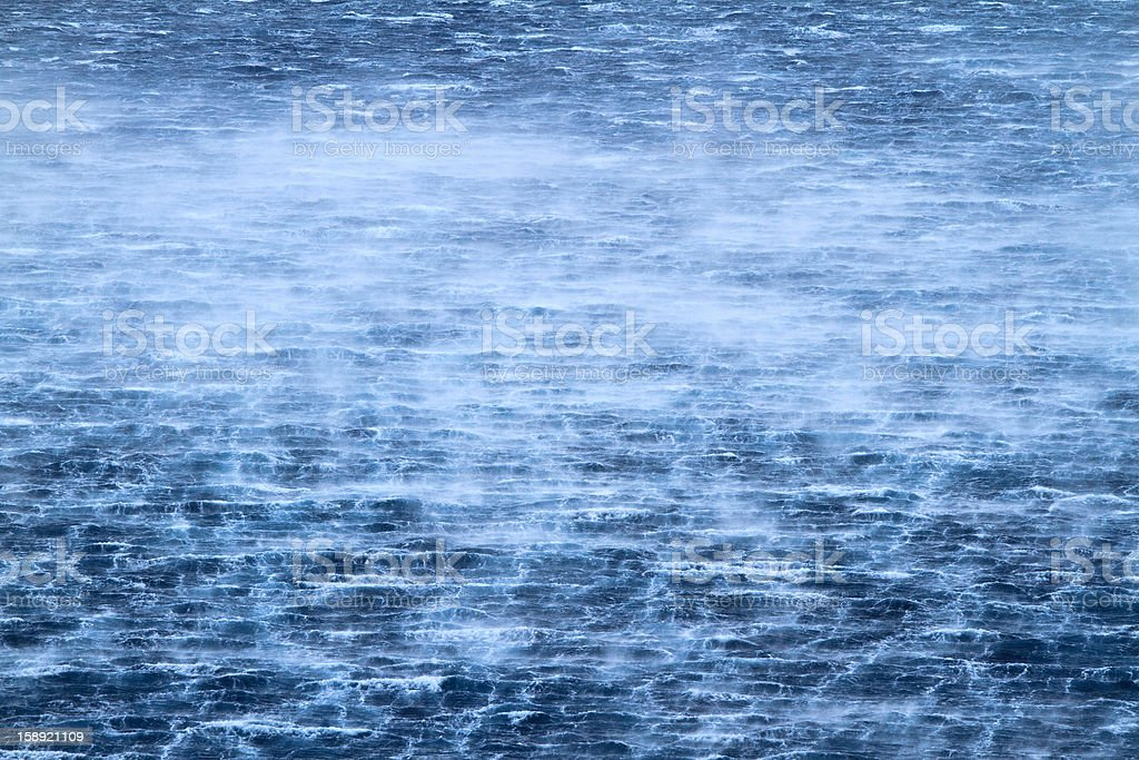 raging sea with furious waves royalty-free stock photo
