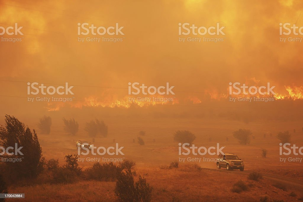 Raging Wildfire royalty-free stock photo