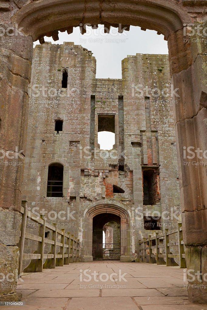 Raglan Castle Doorway stock photo