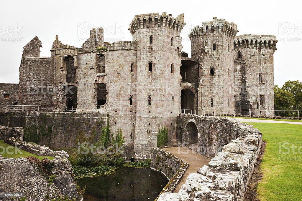 Raglan Castle stock photo