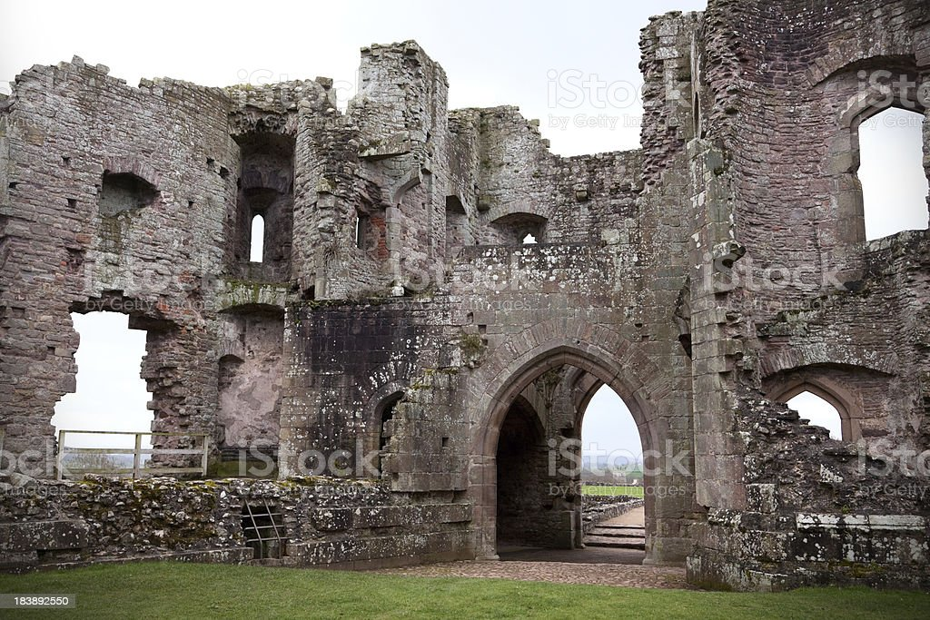 Raglan Castle, Wales stock photo