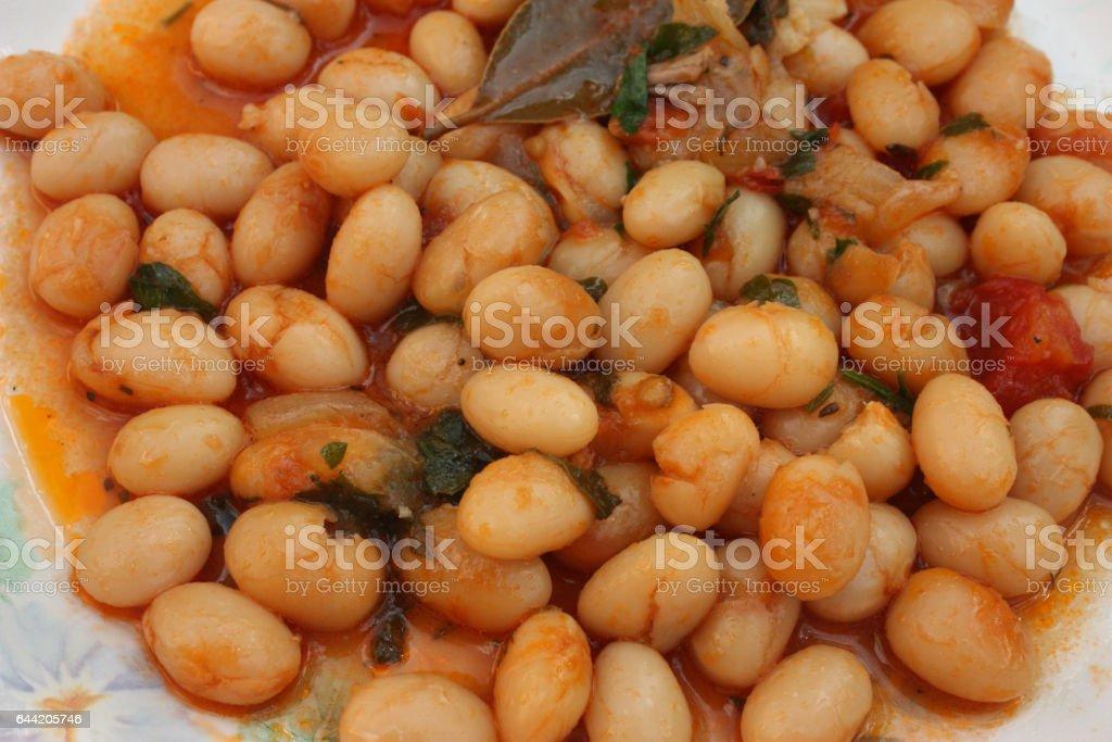 Ragoût de Haricots blancs - Ragoût sans viande stock photo