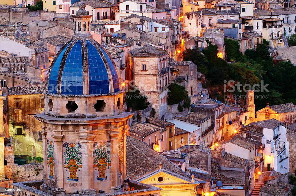 Ragusa Cityscape stock photo