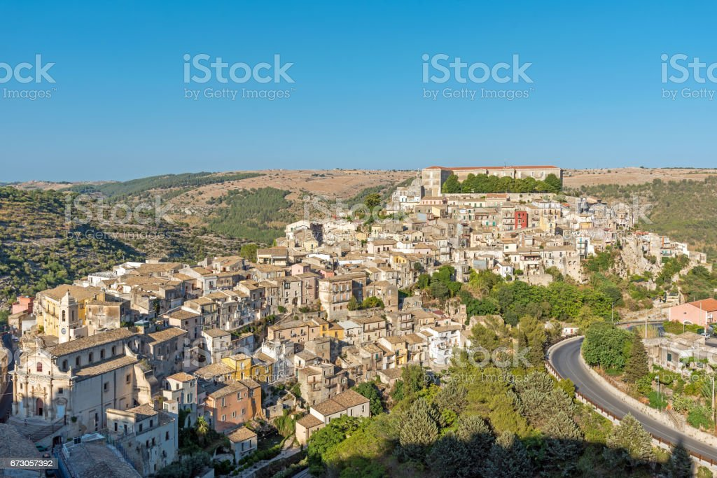 Ragusa Ibla in Sicily on a sunny day stock photo