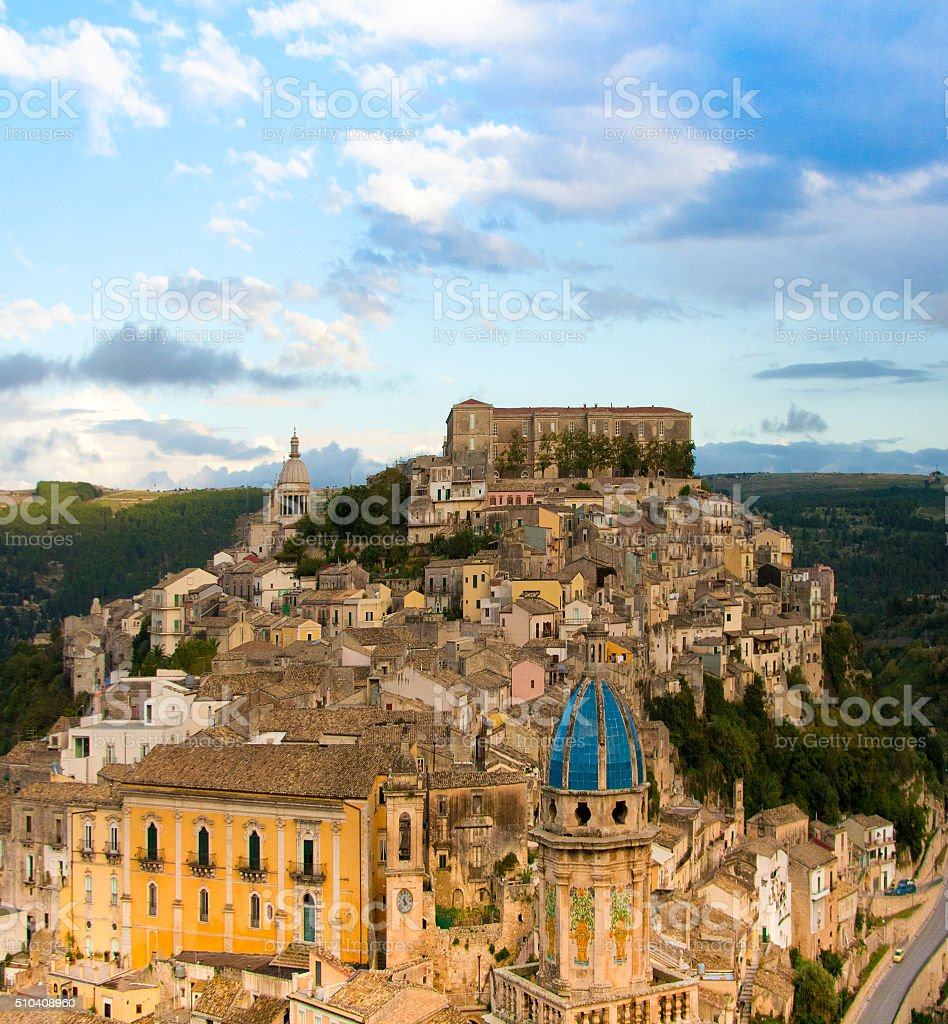 Ragusa Ibla, Sicily: Panorama from Above stock photo