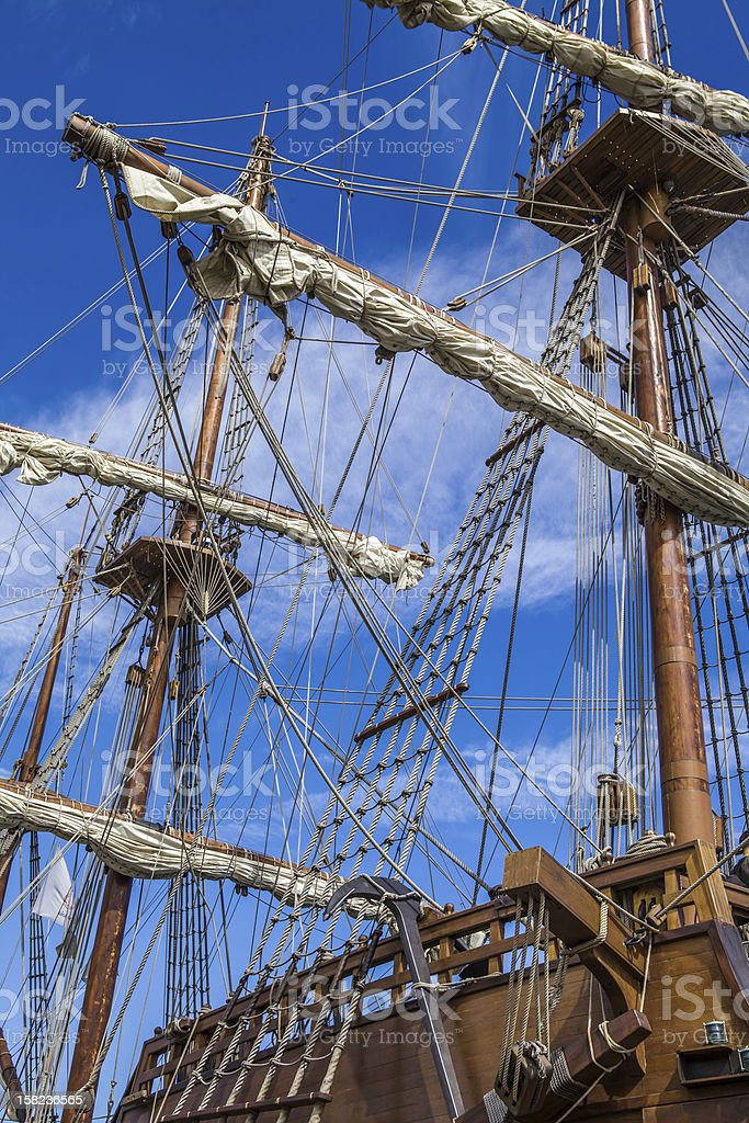 Rah sailing ship stock photo