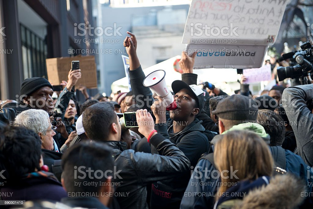 Rahm Resign Protest stock photo